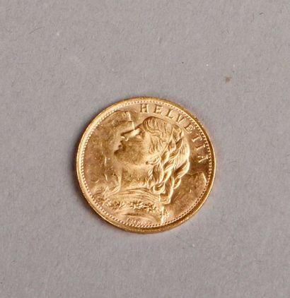 PIÈCE de 20 Francs or Suisse 1935. Pds: 6,40 g