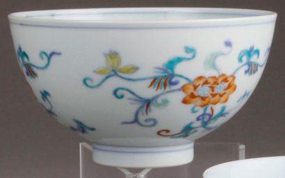 BOL en porcelaine Doucaï à décor de trois...