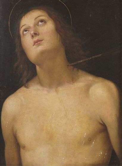 LE PERUGIN - Pietro di Cristoforo Vannuci, dit (1450-1523), d'après Saint Sébastien...