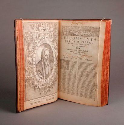 NON VENU - [Médecine]. MATTHIOLUS (André). Les commentaires de M.P. André Matthiolus,...