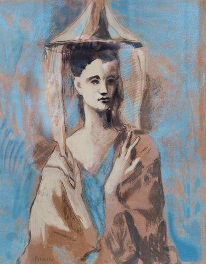 Pablo PICASSO (1881-1913) La femme de Majorque  Lithographie offset numérotée 145/550...