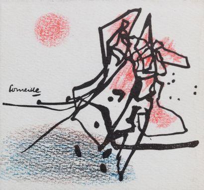 CORNEILLE (1922-2010)  Composition  Encre...