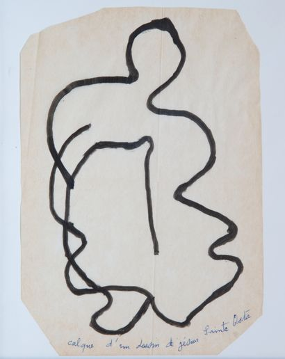 Gaston CHAISSAC (1910-1964)  D'après un dessin...