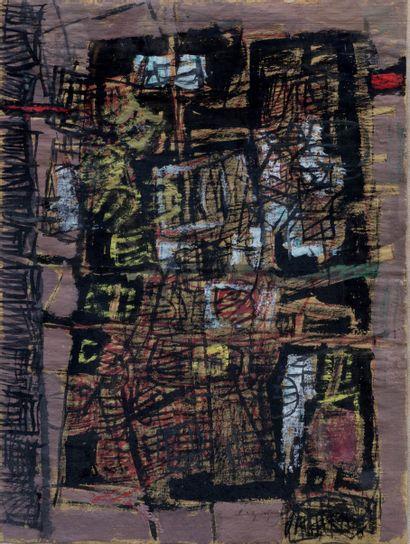 Schinn YUEN YUY (1922)  Composition  Gouache...
