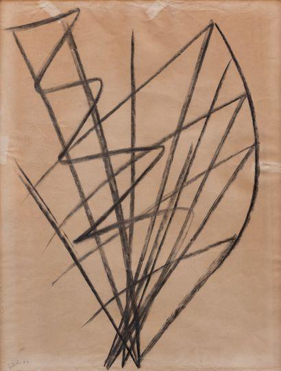 Émile GIOLI (1911-1977)  Composition abstraite...