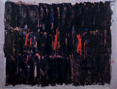 Pierre FICHET (1927-2007)  Composition  Gouache...