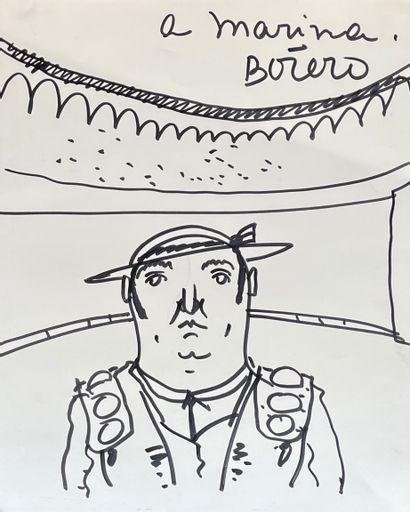Fernando BOTERO (1932)  Le Toréador  Feutre...