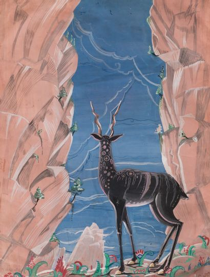 Dora MAAR (1907-1997)  Antilope  Gouache...