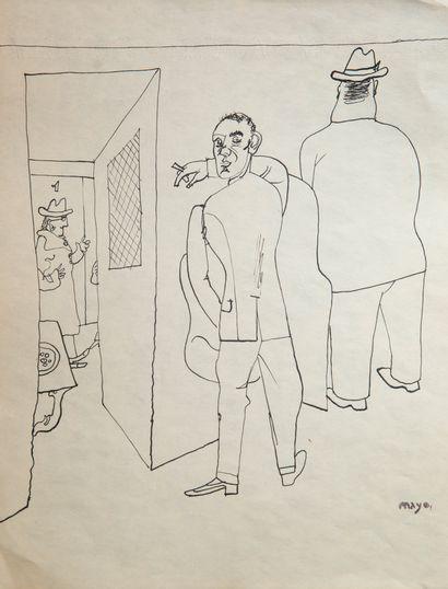 Antoine MAYO (1905-1990)  Chez les hommes...