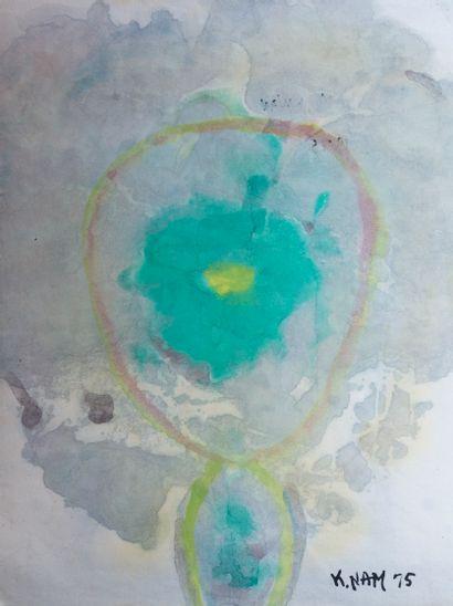 Kwan NAM (1911-1990)  Abstraction  Aquarelle...
