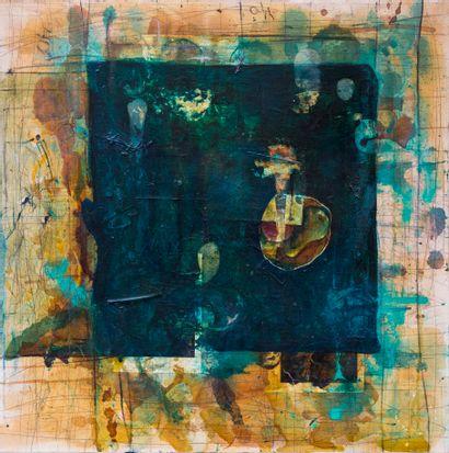 Kevin LARMON (1955)  Water, 1989  Huile sur...