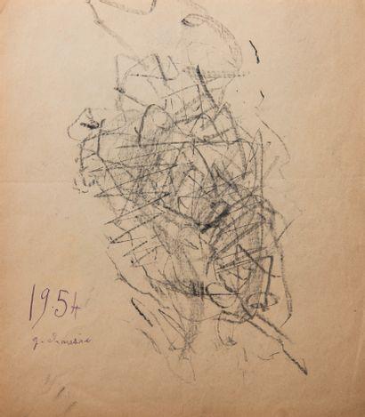 Gaston CHAISSAC (1910-1964)  Arbre sous la...