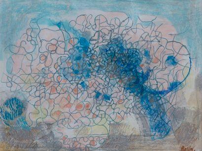 Gustav BOLIN (1920-1999)  Paysage  Pastel...