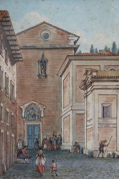 Victor-Jean NICOLLE (1754-1826)  Vue de l'entrée...