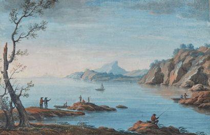 École française du XVIIIe siècle  Paysage...
