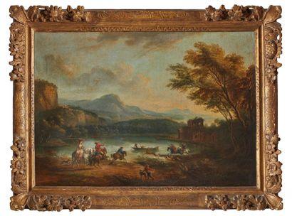 Jean-Baptiste LALLEMAND (1716-1803)  Le Bat-l'eau...