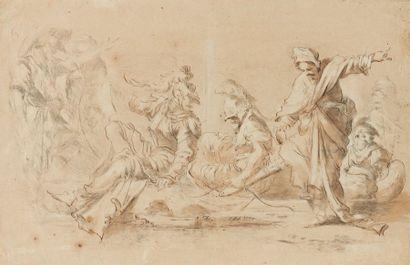 École italienne du XVIIe siècle  Personnages...