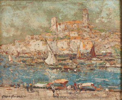 Merio AMEGLIO (1897-1970)  Cannes, 1938  Huile...