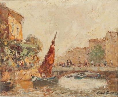 Merio AMEGLIO (1897-1970)  Les Martigues...