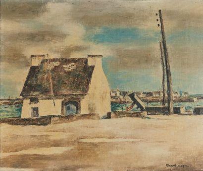 Paul CHARLEMAGNE (1892-1972)  La douane au...