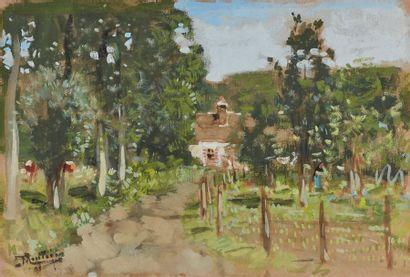 Pierre-Eugène MONTEZIN (1874-1946)  Paysage...