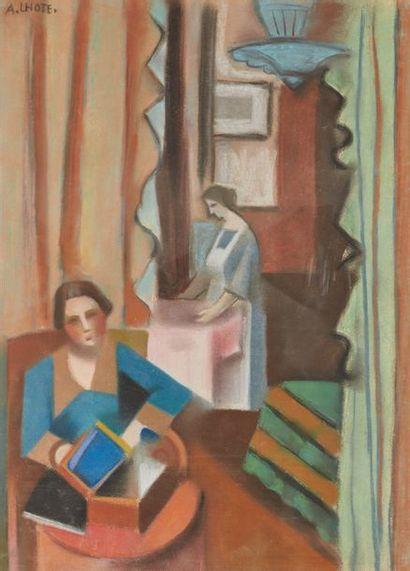 André LOTHE (1885-1962)  Scène d'intérieur,...
