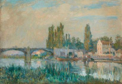 Albert LEBOURG (1849-1928)  Pont de Chatou...