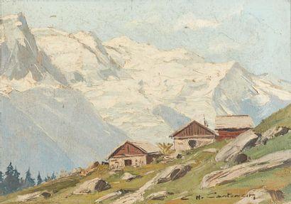 Charles CONTENCIN (1898-1955)  Chalets de...