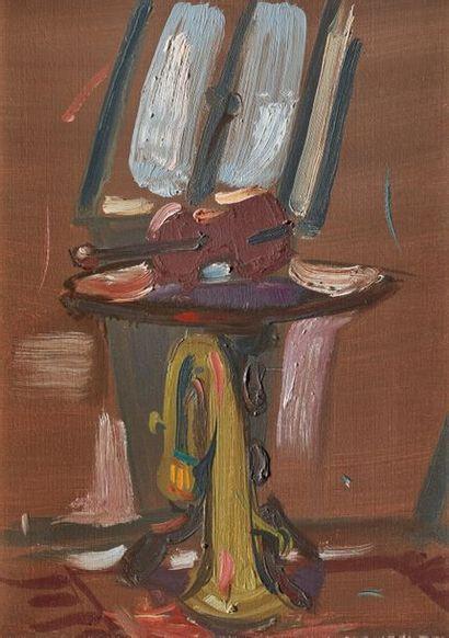 Jean HÉLION (1904-1987)  Guéridon au violon...