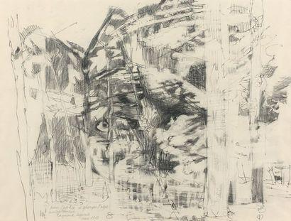 Raymond LEGUEULT (1898-1971)  Sous-bois  Dessin...