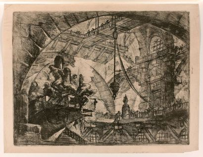 Giovanni-Battista PIRANESI (1720-1778)  Carceri,...