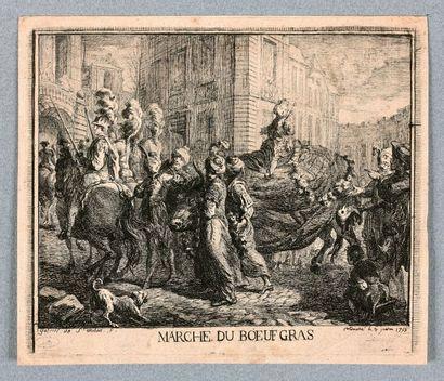 Gabriel de SAINT-AUBIN (1724-1780)  Marché...