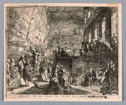 Gabriel de SAINT-AUBIN (1724-1780)  Vue du...