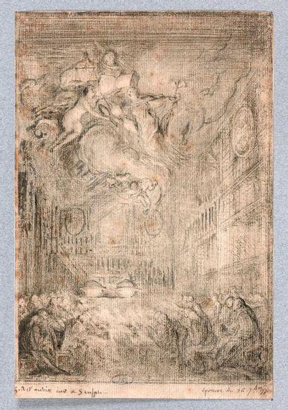 Gabriel de SAINT-AUBIN (1724-1780)  Une conférence...