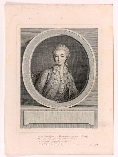 J.-F. BEAUVALET (1731-1797)  Portrait de...