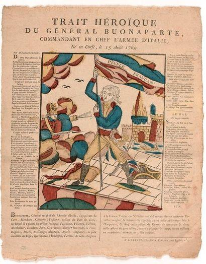 IMAGERIE POPULAIRE (XVIIIe siècle)  Orléans : Trait héroïque du Général Bonaparte,...