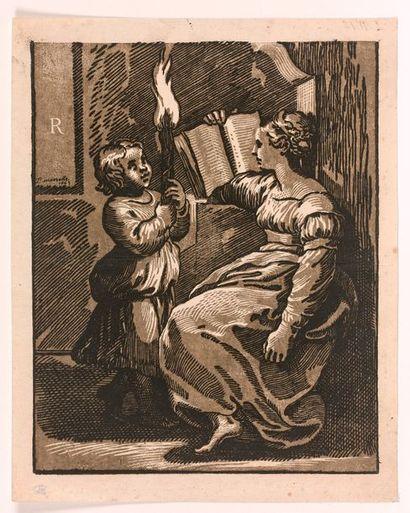 Ugo da CARPI (Carpi 1480-Rome 1520)  Sibylle,...