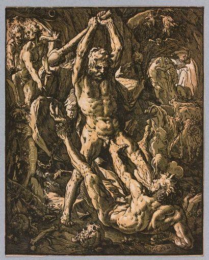 Hendrik GOLTZIUS (1558-1616)  Hercule tuant...