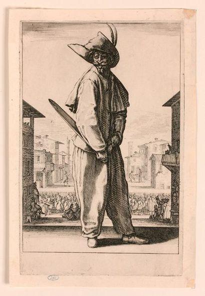 Jacques CALLOT (Nancy 1592-1635)  Les Trois Pantalons, pièce appelée aussi Les Trois...