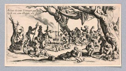 Jacques CALLOT (Nancy 1592-1635)  Les Bohémiens,...