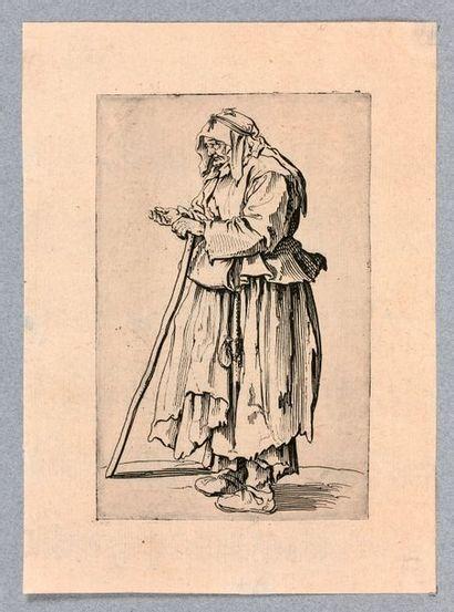 Jacques CALLOT (Nancy 1592-1635)  Les Gueux, suite aussi appelée Les Mendiants ou...