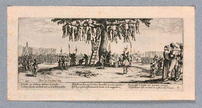 Jacques CALLOT (Nancy 1592-1635)  Les Grandes Misères de la Guerre  Série complète...