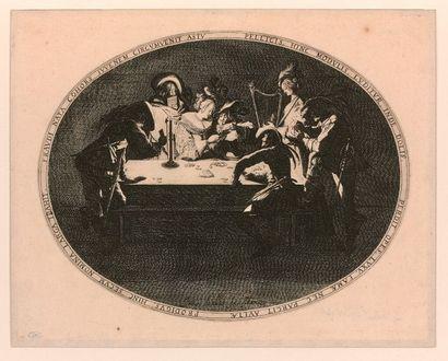 Jacques CALLOT (Nancy 1592-1635)  Le Brelan,...