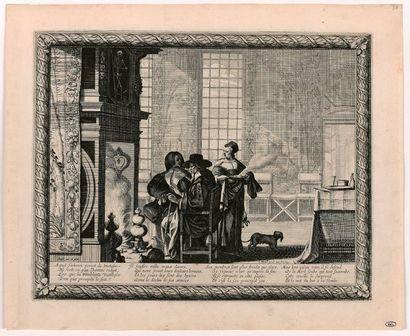 Abraham BOSSE (Tours 1602-Paris 1676)  Les Quatre âges de l'homme, 1636  Série de...