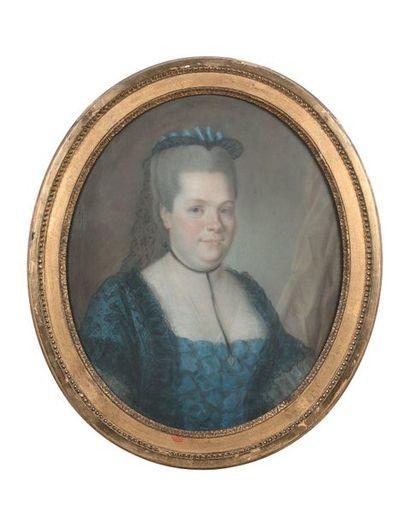Charles NAUDIN (Paris, 1731-1786)  Portrait...