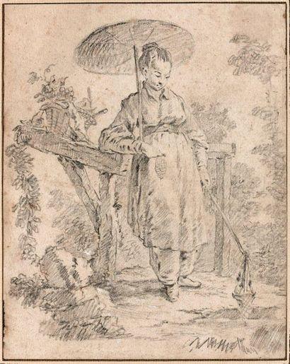 Atelier de François BOUCHER  La Pêcheuse...