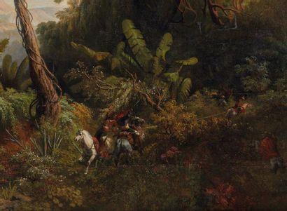 Pharamond BLANCHARD (1805-1873)  Clairière dans les terres chaudes de la Côte-Ferme...