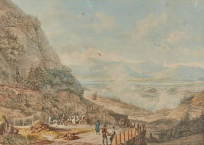 Auguste I BLANCHARD (1766-1835)  Voyageurs...