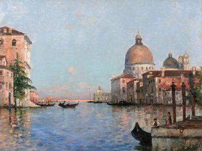 Maurice BOMPARD (1857-1936)  Venise, la Salute...