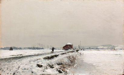 Ivan POKHITONOV (1850-1923)  Paysage de neige,...